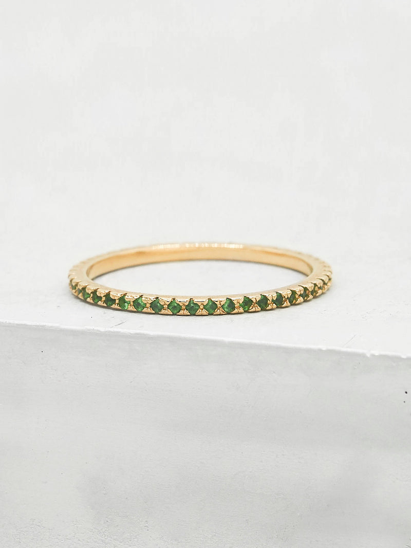 Eternity Ring - Gold + Emerald