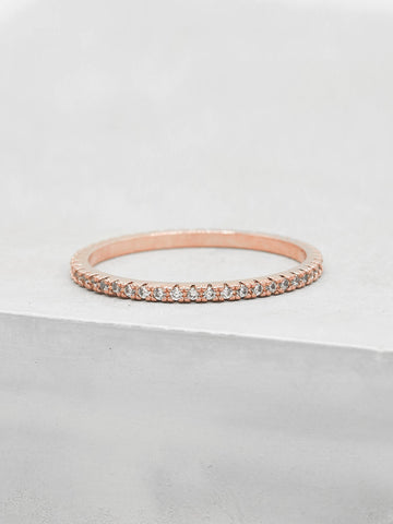 Crown Ring - Silver + Pink