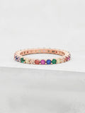 Rainbow Eternity Ring - Rose Gold