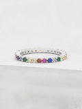 Rainbow Eternity Ring - Silver