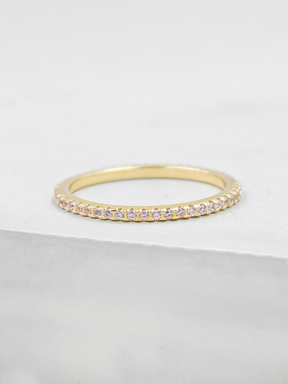 Eternity Ring - Gold + Light Pink