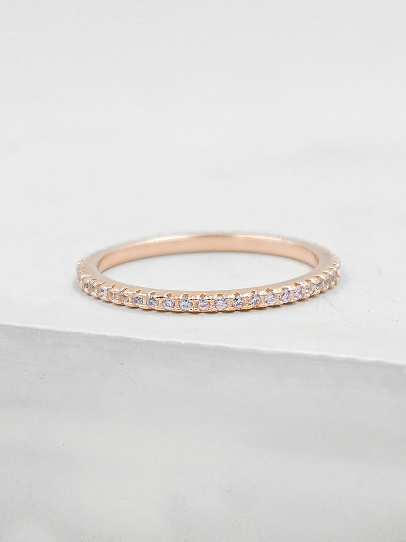 Eternity Ring - Rose Gold + Light Pink