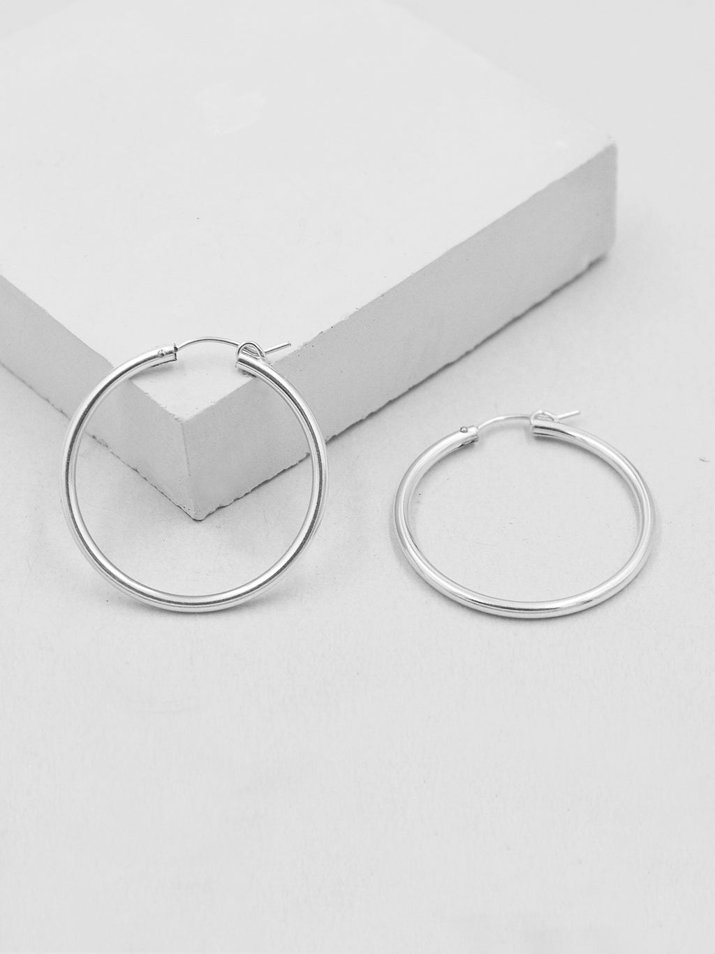Hoop Earrings - Silver