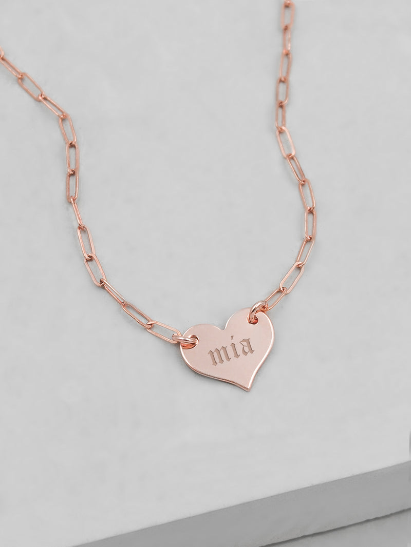 Paperclip Heart Necklace