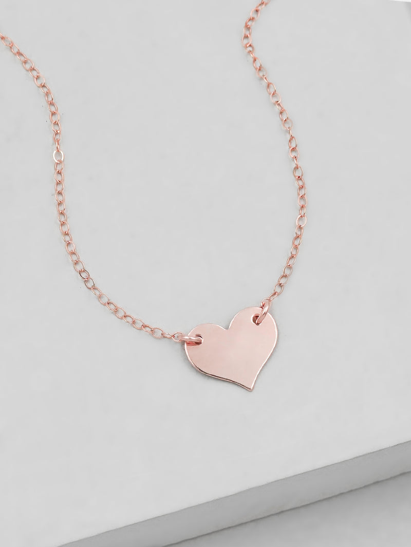 Heart Necklace - Rose Gold