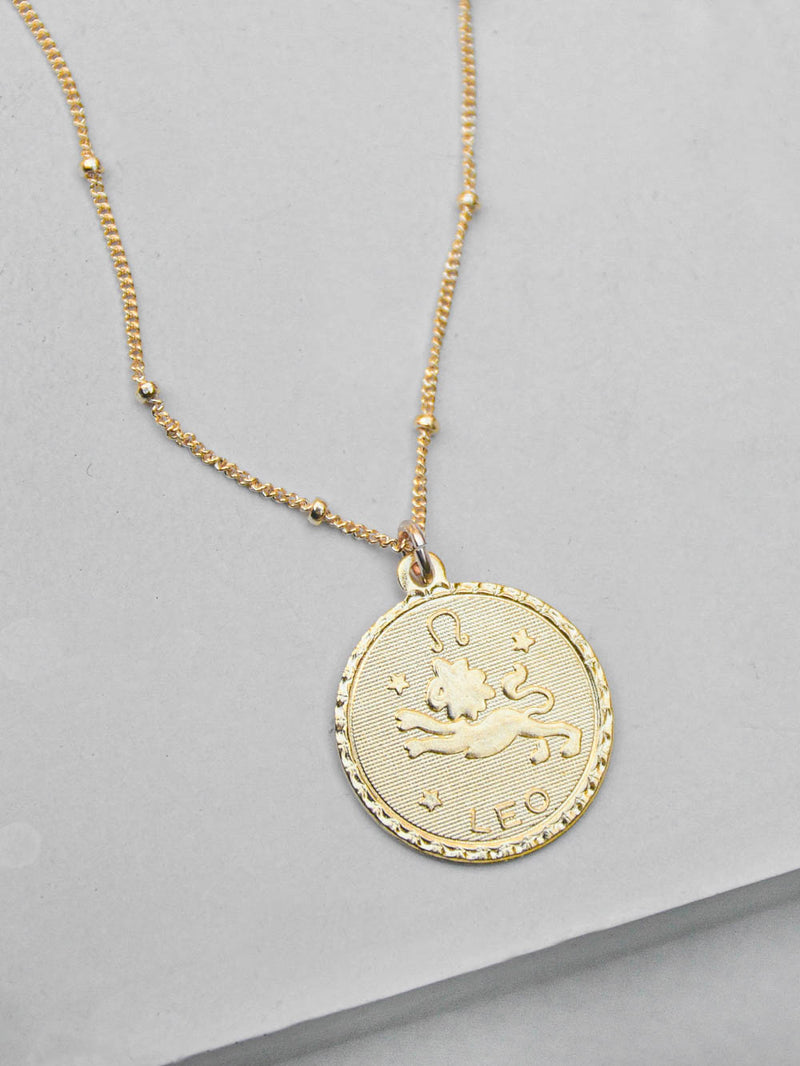Gold Zodiac Charm  Necklace by The Faint Hearted Jewelry