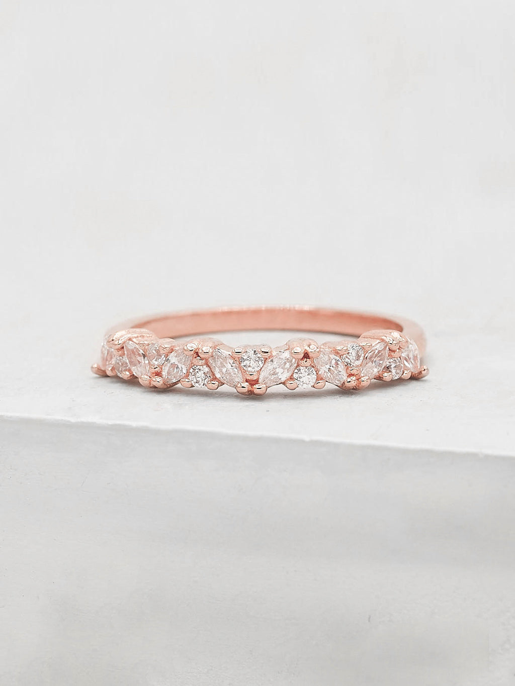 Marquise Eternity Ring - Rose Gold