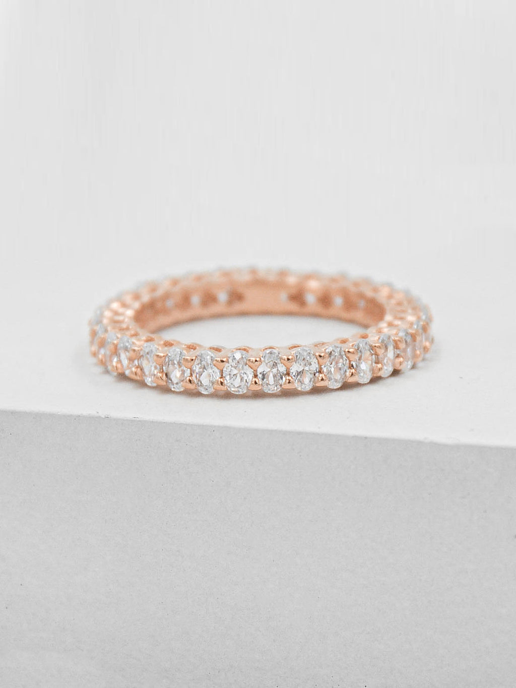 Oval Eternity Band - Rose Gold