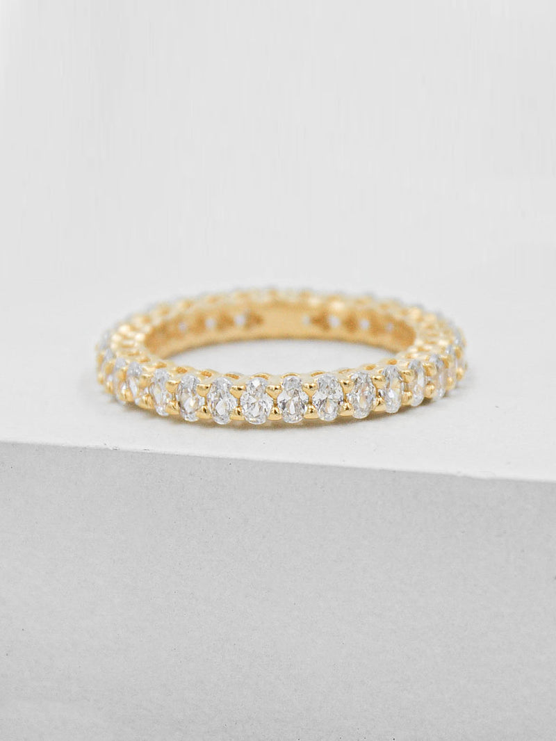 Oval Eternity Band - Gold