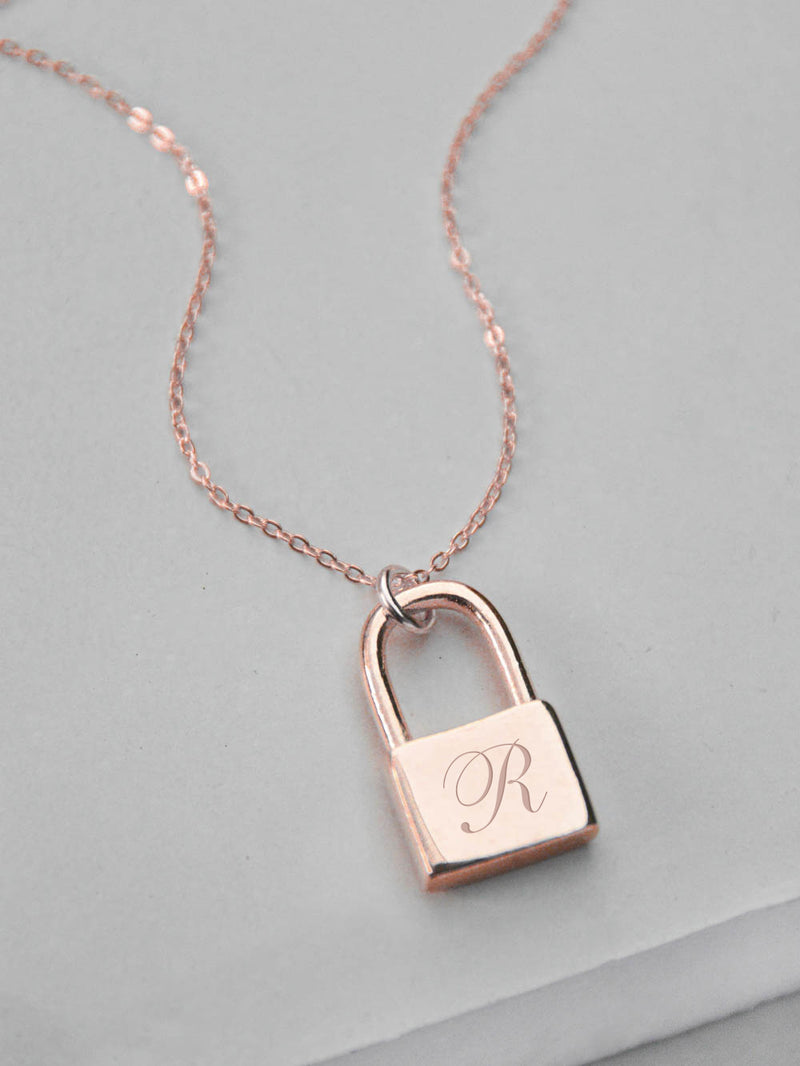 Padlock Necklace - Rose Gold