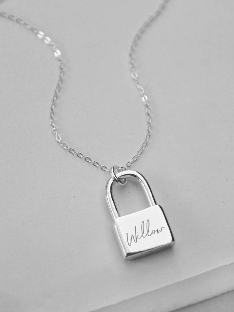 Padlock Necklace - Silver