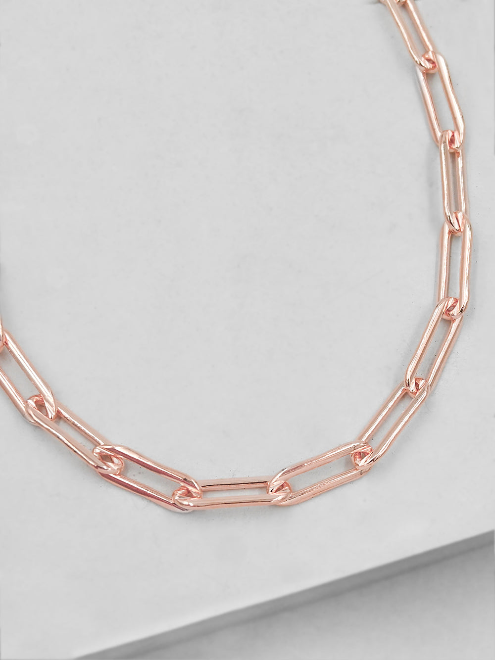 Large Paperclip Rose Gold  Necklace  by The Faint Hearted Jewelry