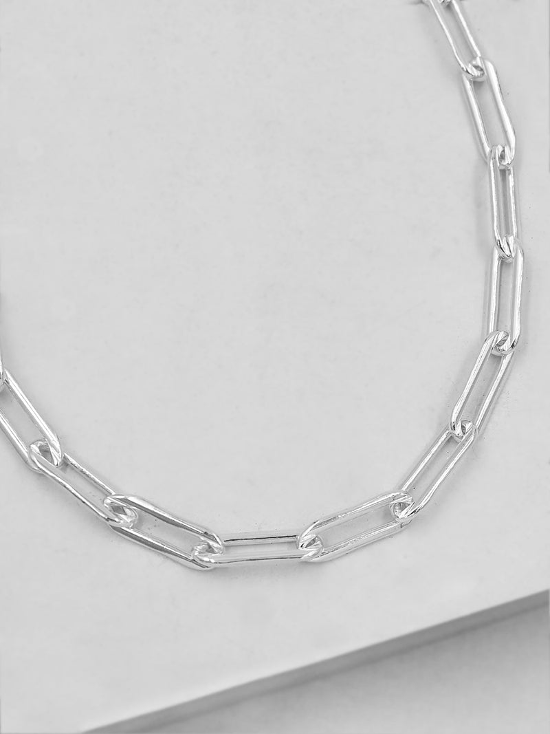 Large Paperclip Necklace - Silver