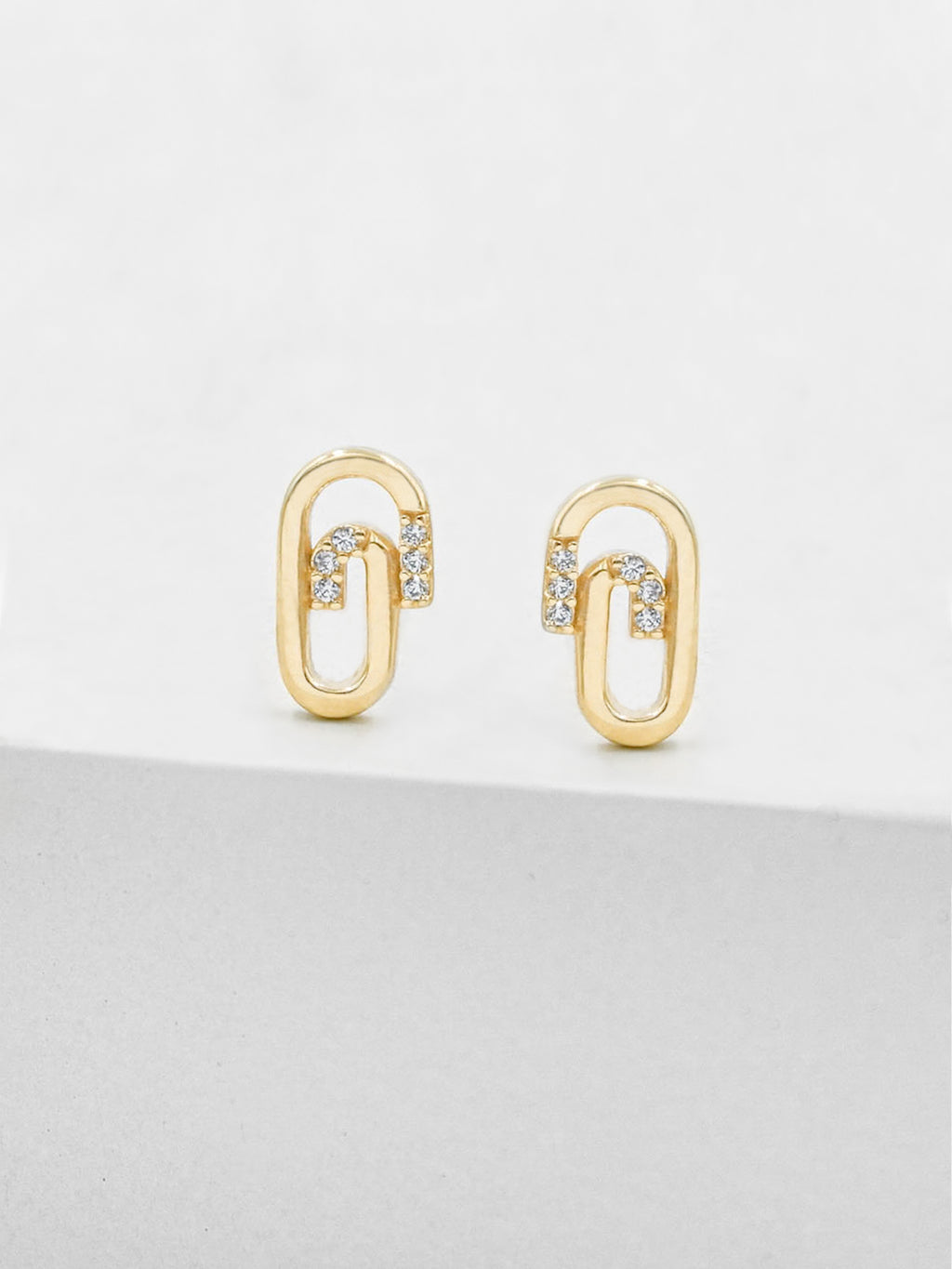 Paperclip Studs - Gold