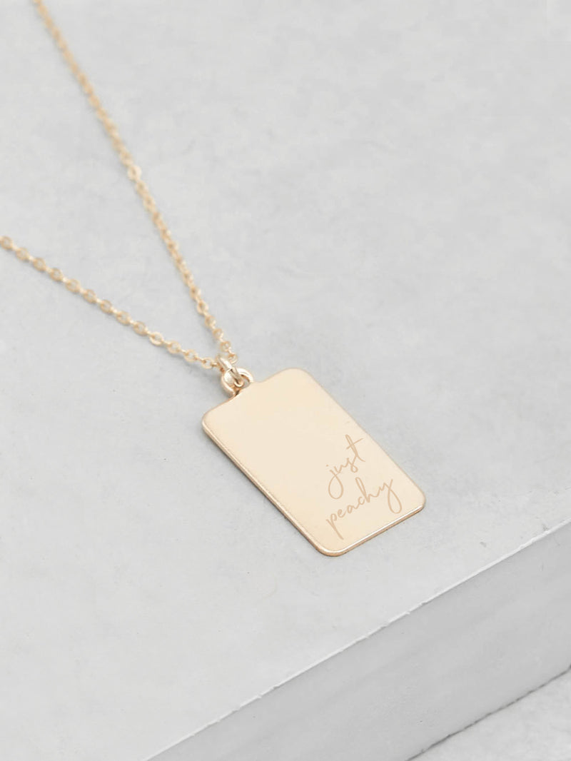 Engraved Tag Necklace