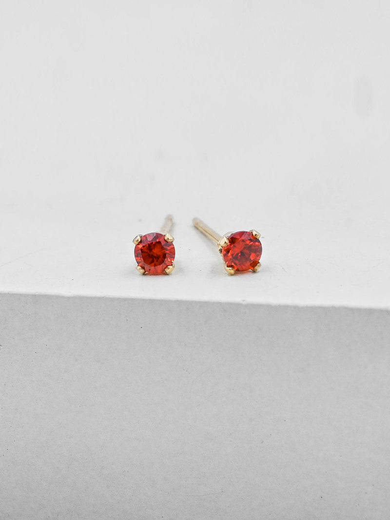 Basic Solitaire Stud - Gold + Red