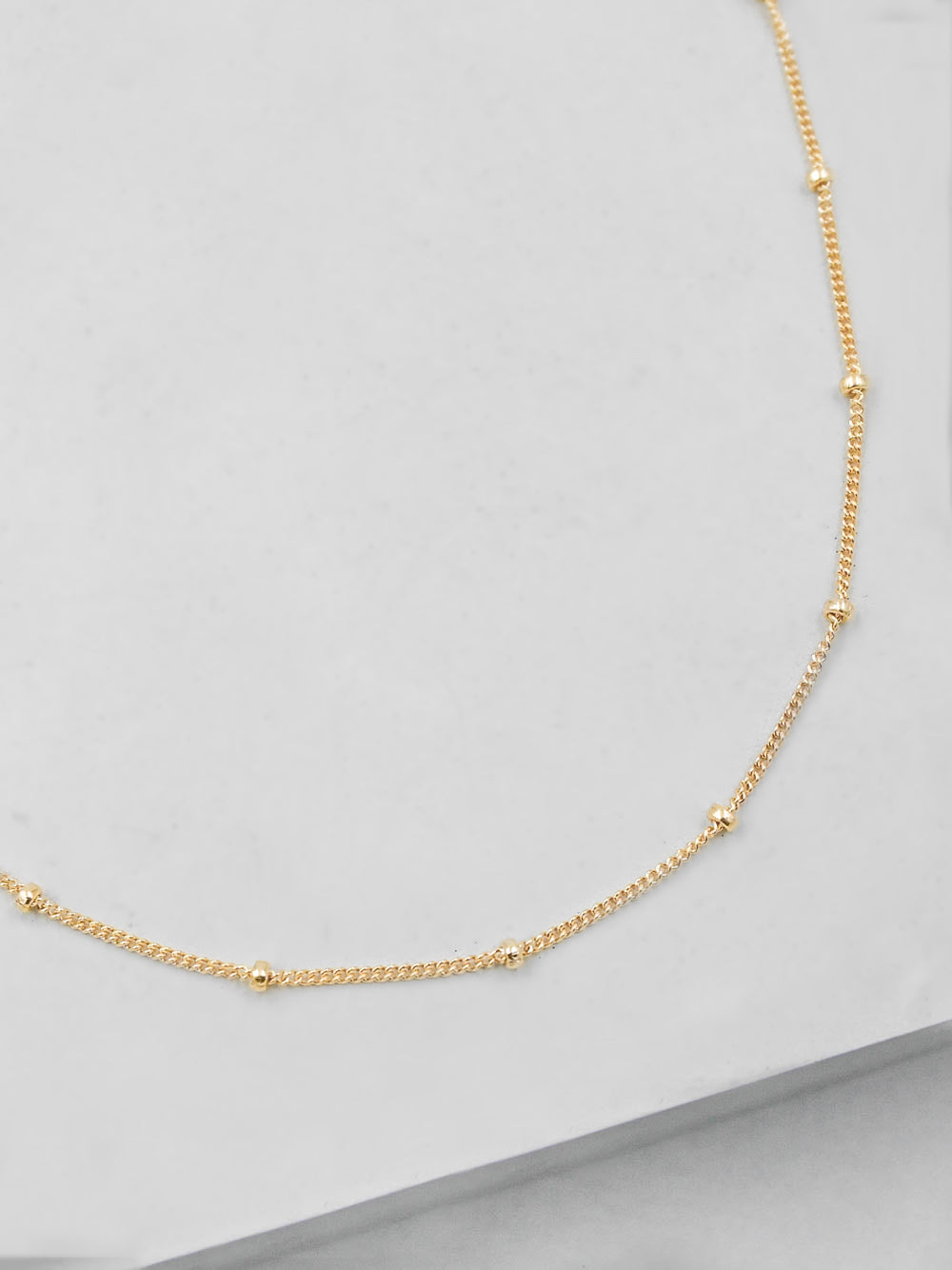 Beaded Gold Filled Chain by The Faint Hearted Jewelry