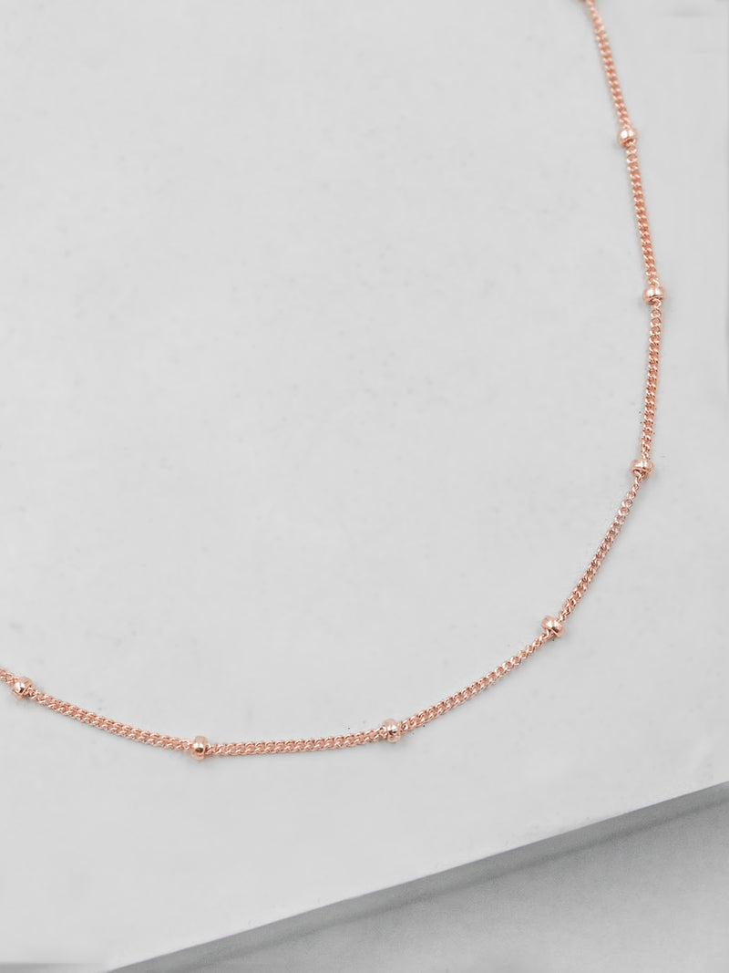 Rose Gold Beaded Chain by The Faint Hearted Jewelry