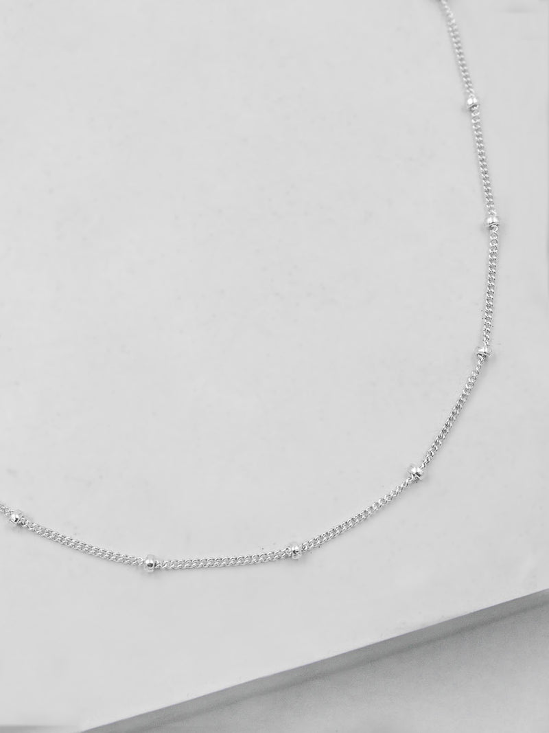 Sterling Silver Beaded Chain by The Faint Hearted Jewelry