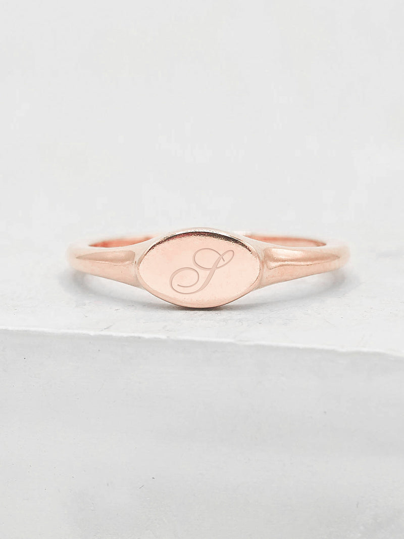 Signet Ring - Rose Gold