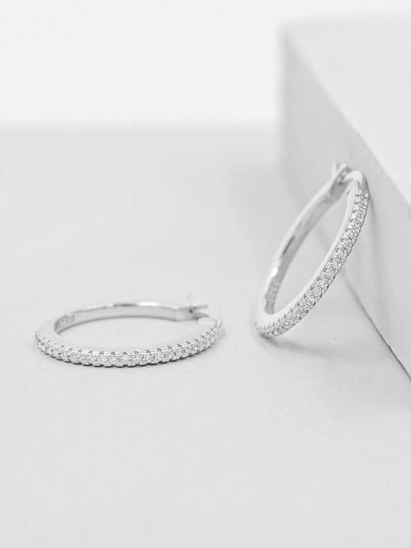 Sparkle Hoops - Silver