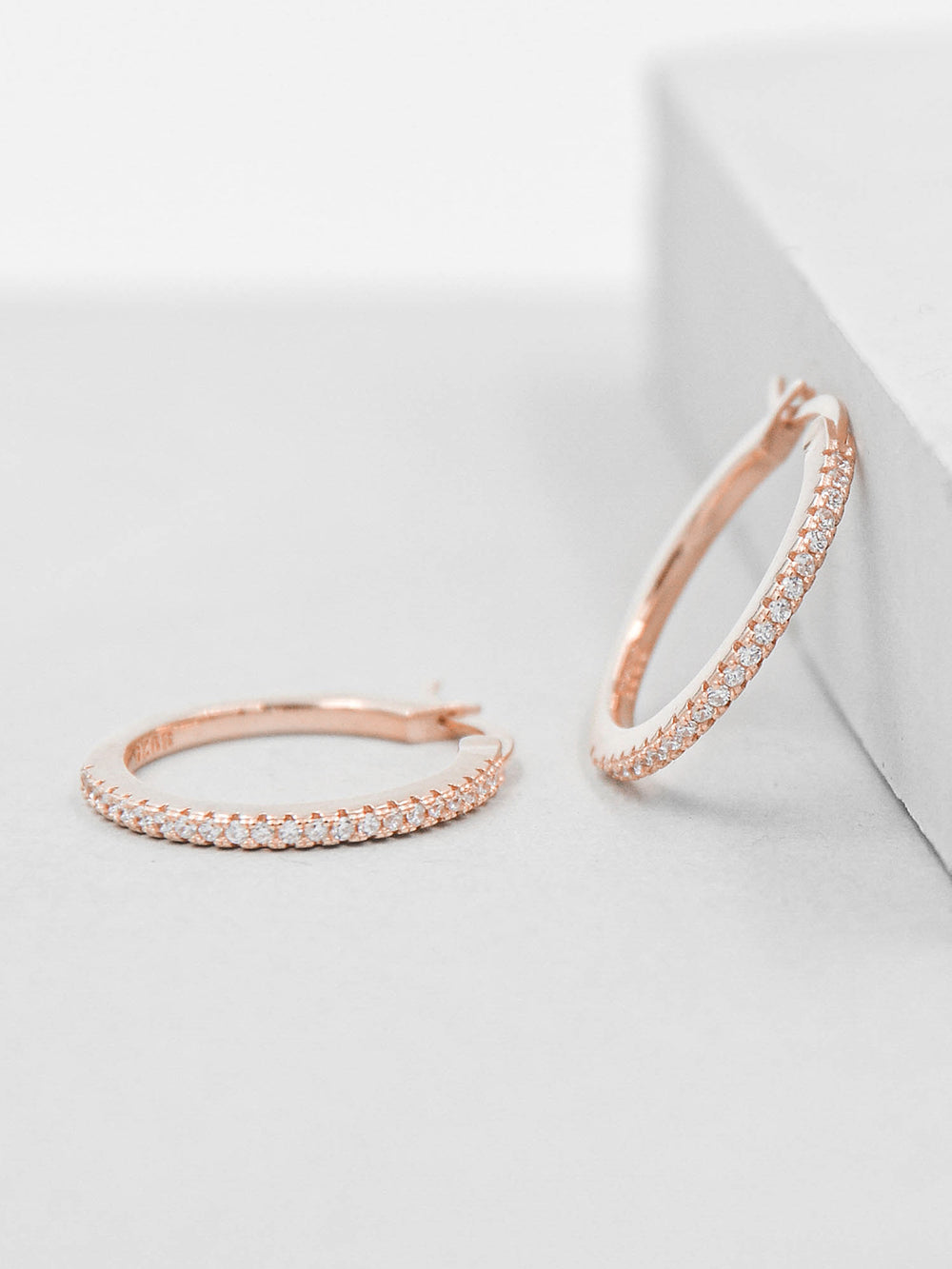 Sparkle Hoops - Rose Gold