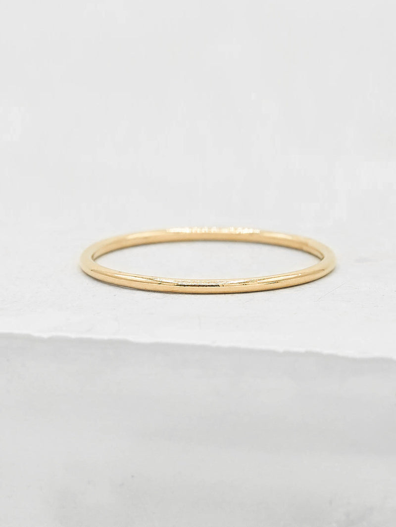 1mm Stacker Gold filled Band by The Faint Hearted Jewelry