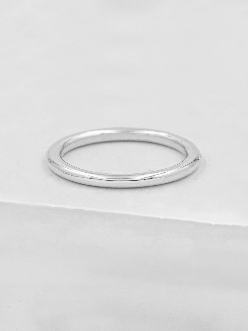 Thick Stacker - Sterling Silver