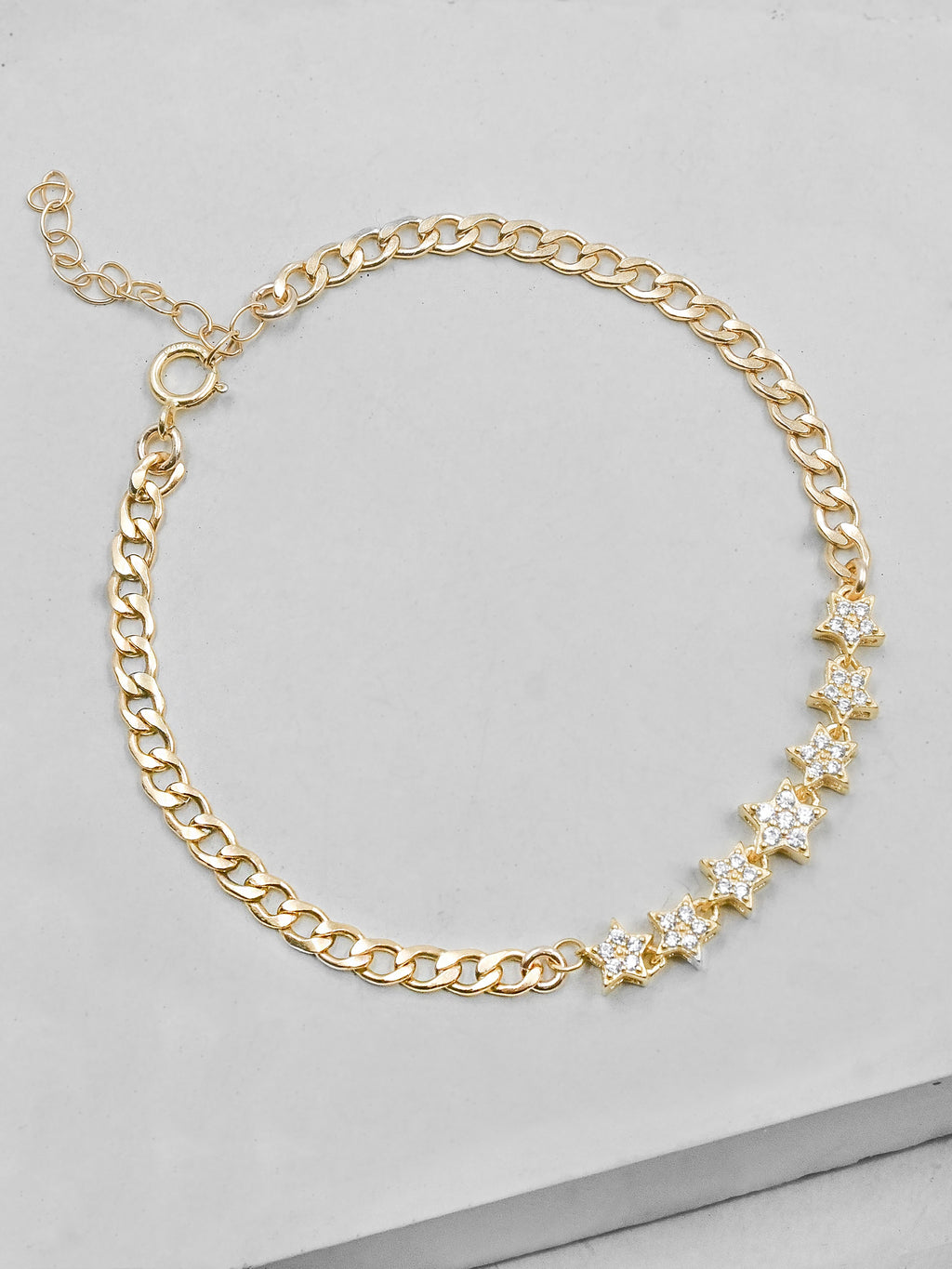 Cuban Link Star Bracelet - Gold