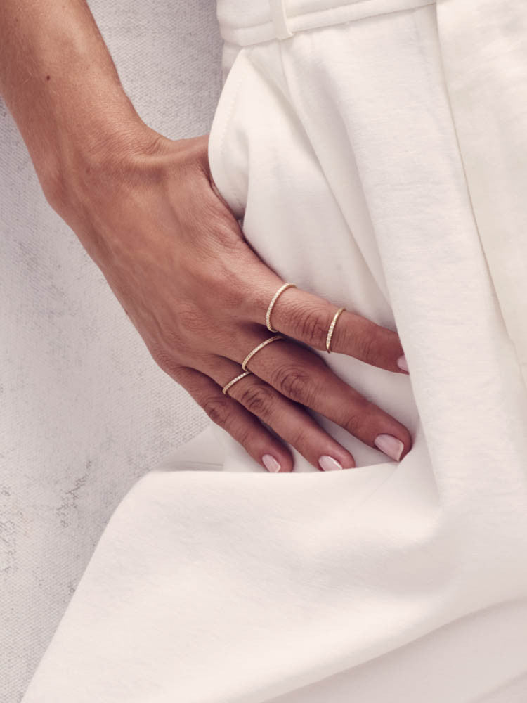 Gold Petite Stacking Ring by The Faint Hearted Jewelry