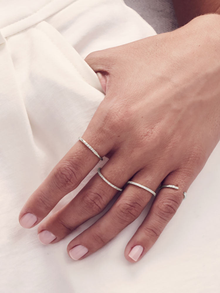 Silver Petite Stacking Ring by The Faint Hearted Jewelry