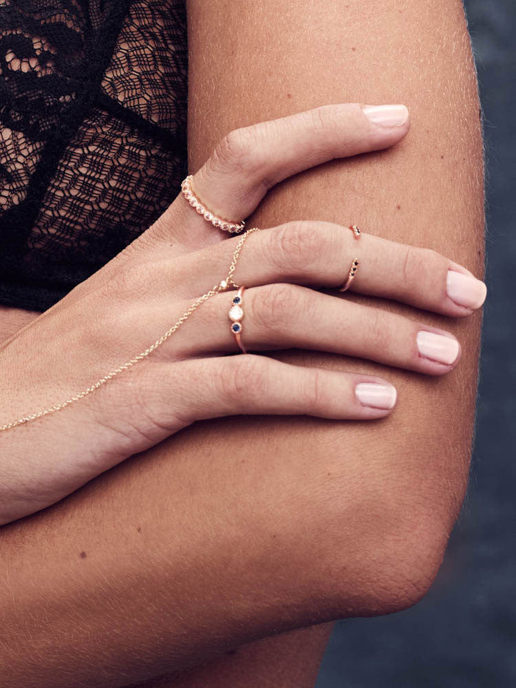 Rose Gold Open Band Stacking Ring by the Faint Hearted Jewelry