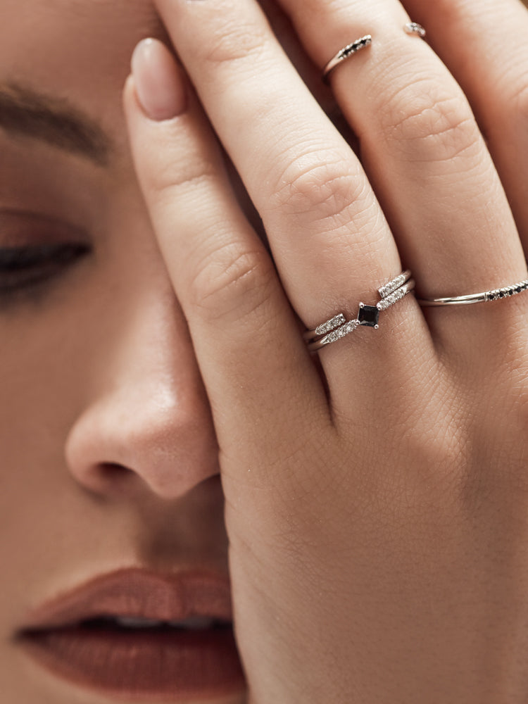 Silver Open Band Stacking Ring by the Faint Hearted Jewelry