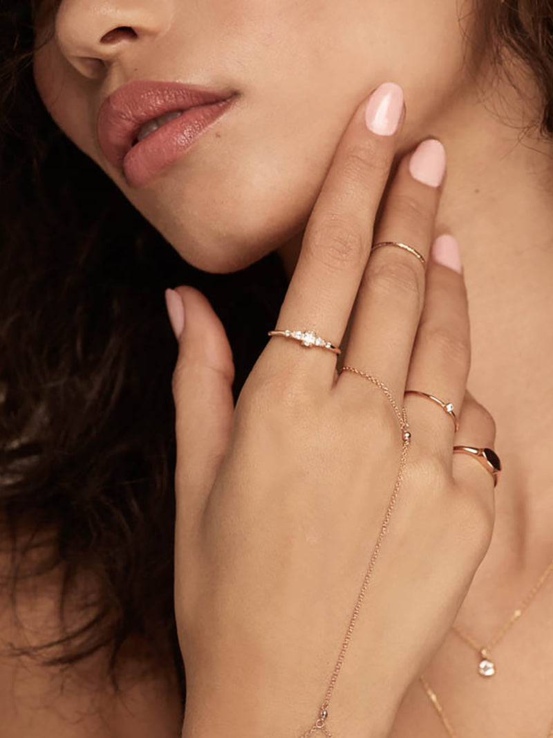 Rose Gold Filled Stacking Dainty Delicate Ring by The Faint Hearted Jewelry