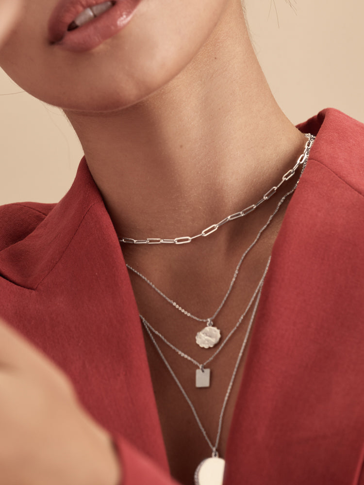 Paperclip Necklace - Silver