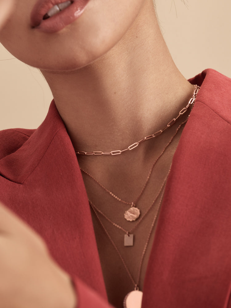 Paperclip Necklace - Rose Gold