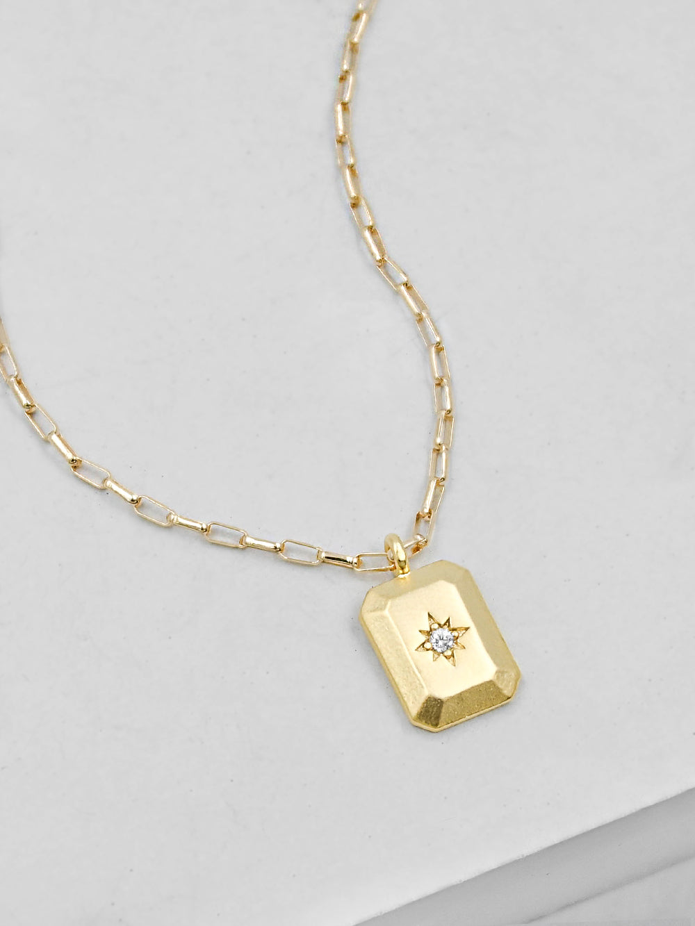 North star Tag Gold Necklace by The Faint Hearted Jewelry