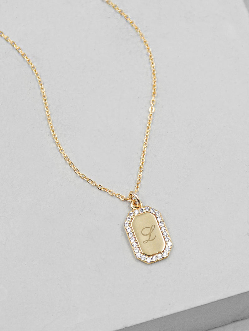 Mini Tag Gold Necklace by The Faint Hearted Jewelry