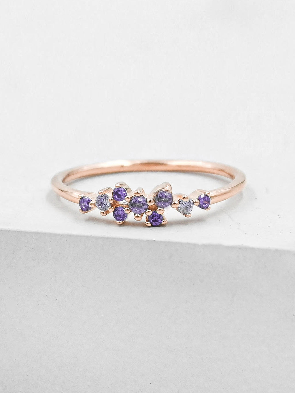 Twilight Ring - Rose Gold + Purple