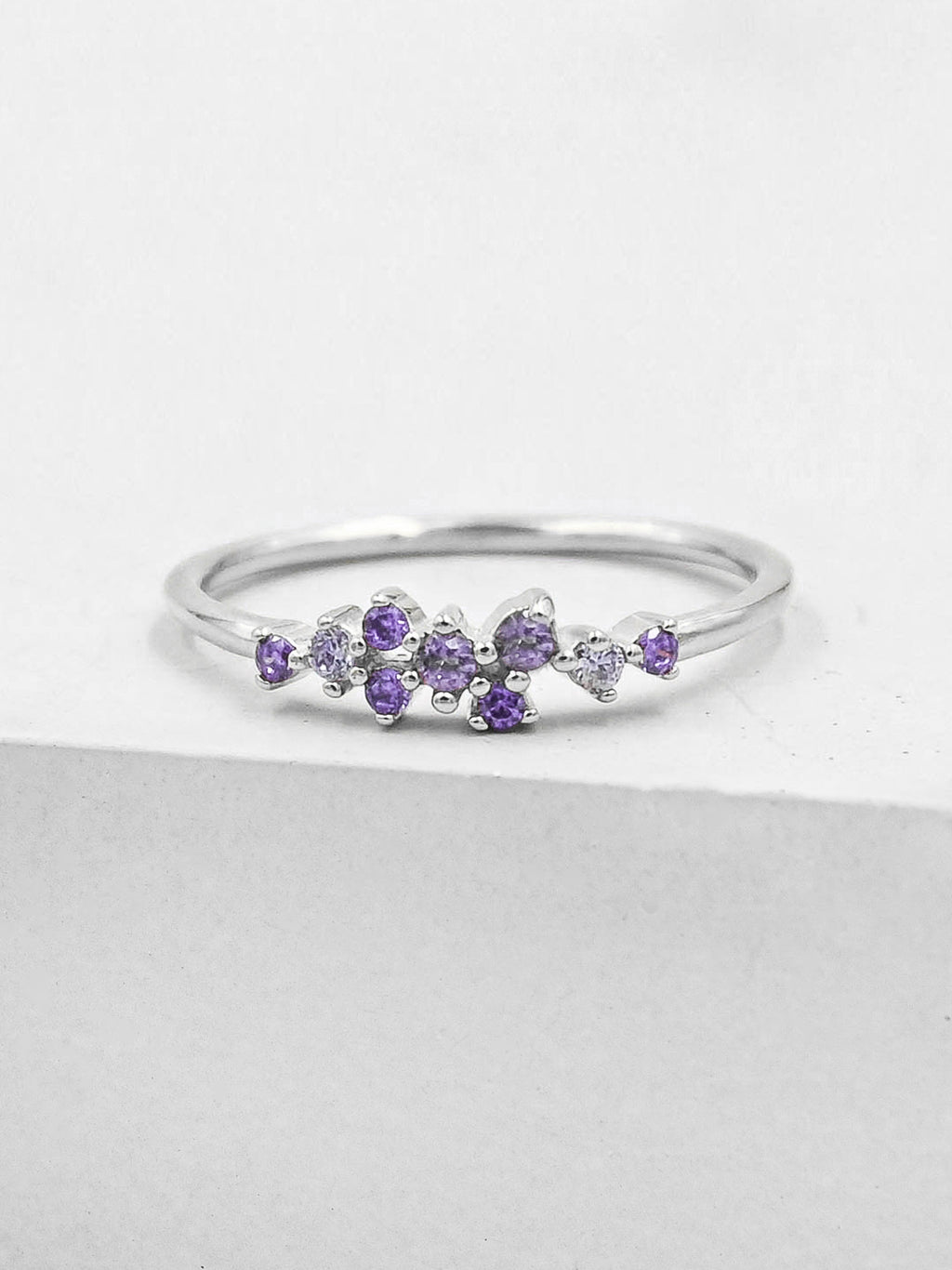 Twilight Ring - Silver + Purple