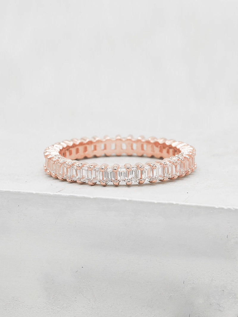 Vertical Baguette Eternity Band
