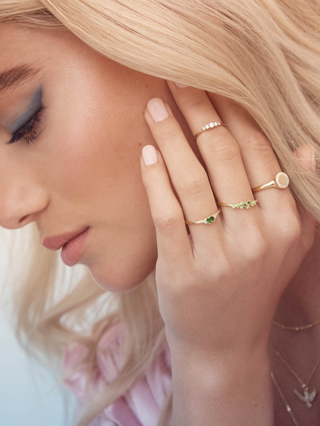 Twilight Ring - Gold + Green