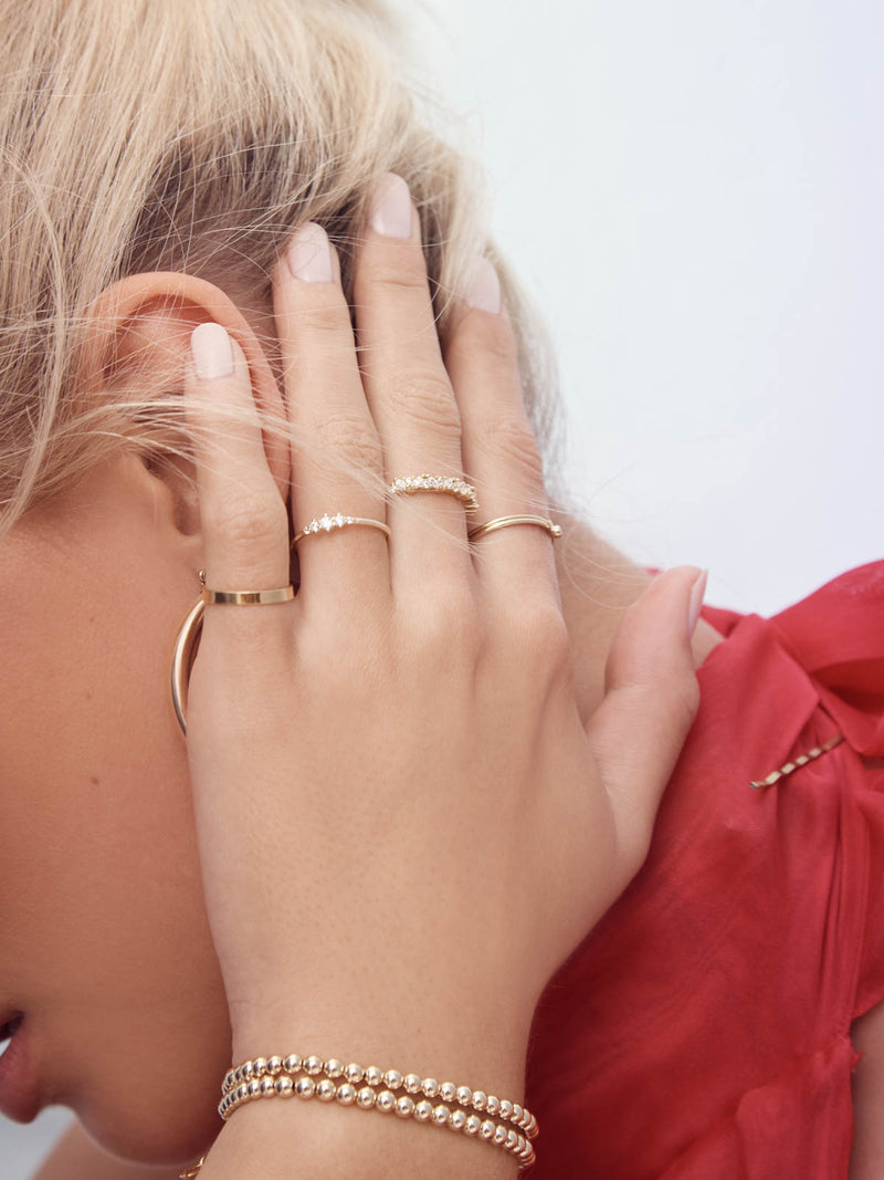 Tarnish Resistant Gold Fill Dainty Ring by The Faint Hearted Jewelry