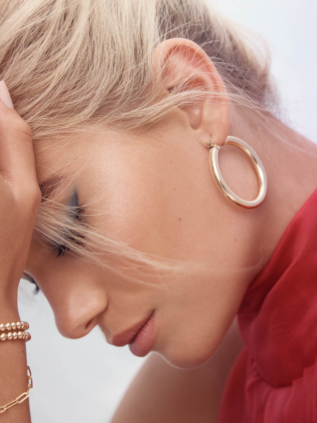 Gold filled Lightweight Hoops earrings by The Faint Hearted Jewelry