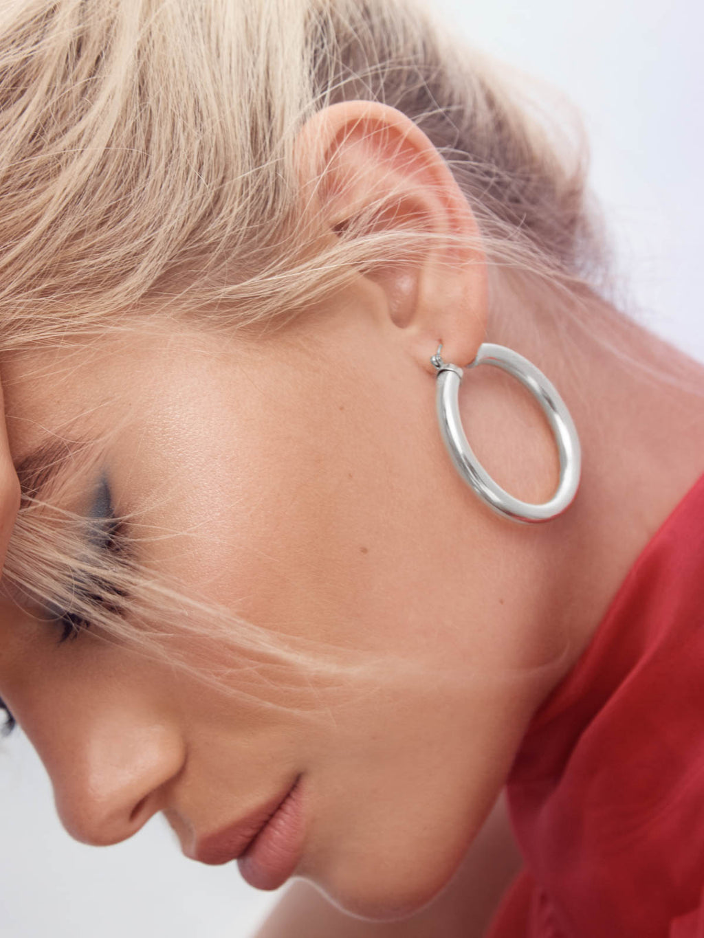 Sterling Silver Lightweight Hoops earrings by The Faint Hearted Jewelry