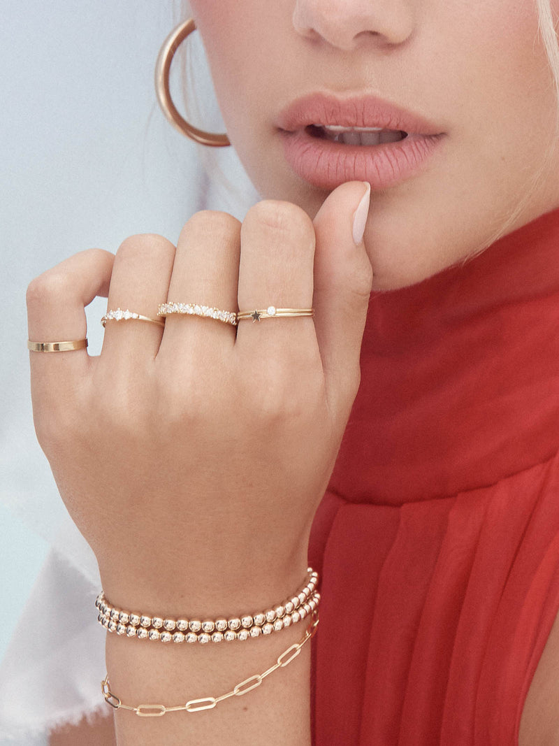 Best seller Dainty Stackable Ring with White CZ by The Faint Hearted Jewelry