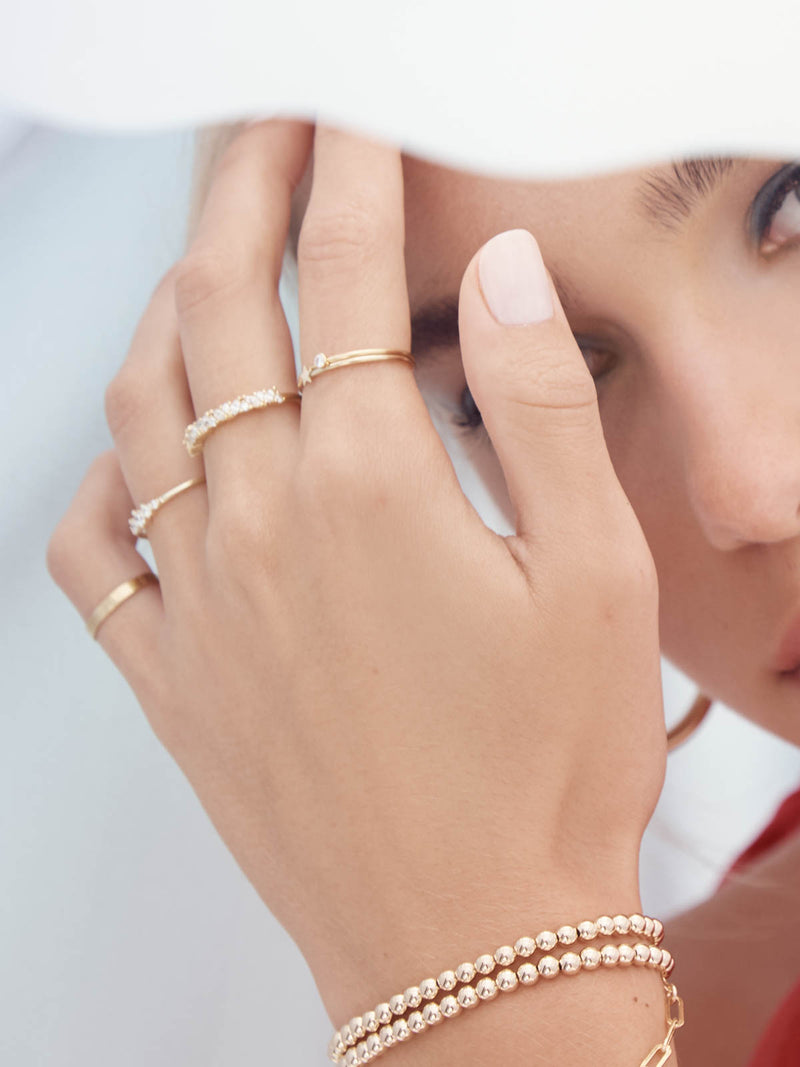 Ladies Minimalistic Gold Filled Band by The Faint Hearted Jewelry