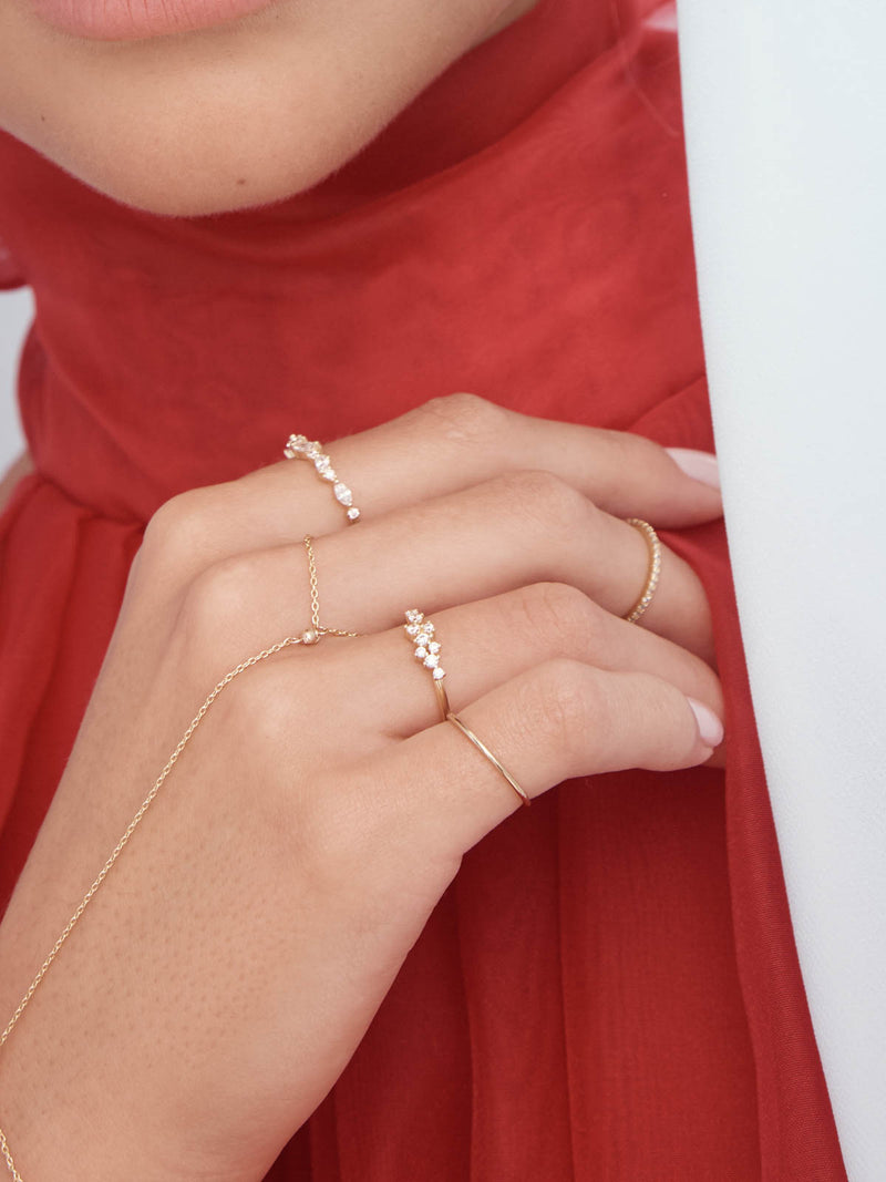 Dainty Gold Filled Delicate Ladies Ring by The Faint Hearted Jewelry