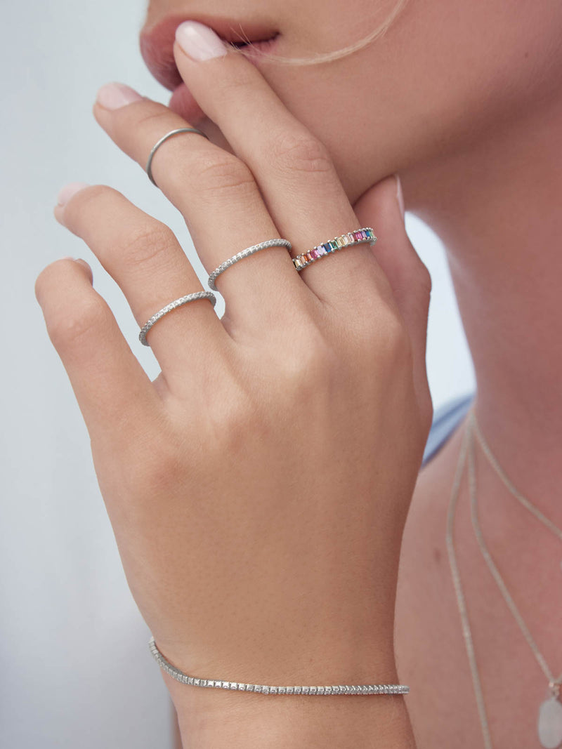 Ladies Thin Delicate Dainty Stackable Ring by The Faint Hearted Jewelry