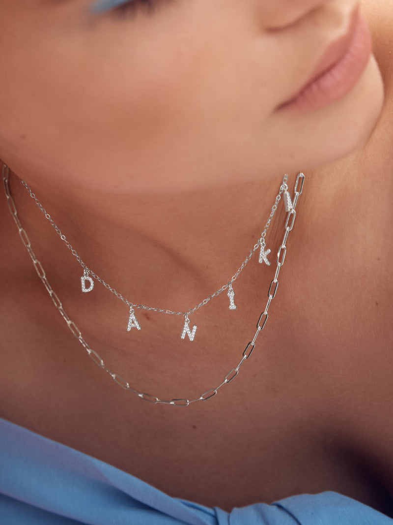 Popular Paperclip design chain Silver Necklace by The Faint Hearted Jewelry